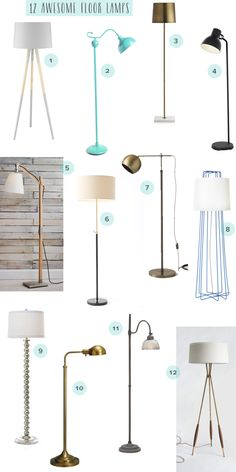 Living Room Reading Nook Inspiration and Round Up of 12 Awesome Floor Lamps by Oh So Beautiful Paper