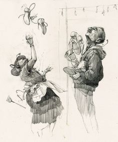 """4,285 Likes, 31 Comments - Pat Perry (@heypatyeah) on Instagram: """"(rejected) mural sketches of drive thru worker and machinist throwing shoes up on wires"""""""