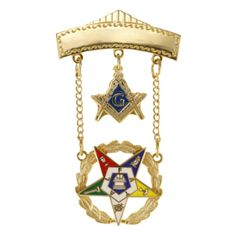 Order of the Eastern Star OES Past Patron 2 Inch Tall Jewel with Safety Clutch - CX11DETRYGJ - Brooches & Pins  #jewellrix #Brooches #Pins #jewelry #fashionstyle