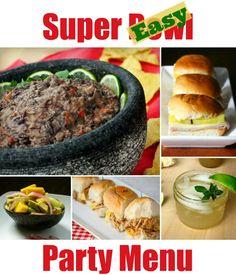 Super Easy Super Bowl Menu | The Good Hearted Woman