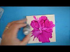 Kellie Chasse Fine Art: New Air Brush Short Demo - Alcohol Ink On Tile