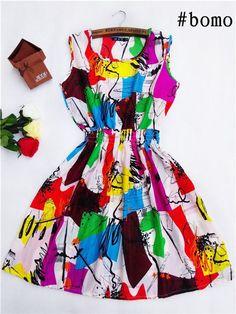 Casual Woman O-Neck Sleeveless Dress