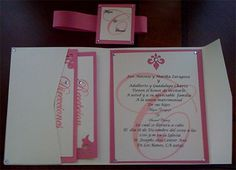 """pocket fold invite great idea to handle all the """"bits"""" you need to send with an invite."""