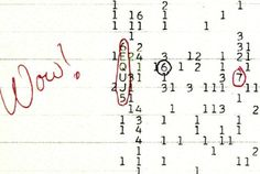 6EQUJ5: The Wow! Signal On August 18, 1977, Ohio State professor and astronomer Jerry Ehman was analyzing a stack of recent computer records from The Big Ear, a radio telescope used to search for alien radio signals. On Aug 18 a signal recorded 3 days earlier, on August 15, jumped out at him.