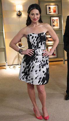 Black/White Strapless Dress by DKNY #WNTW