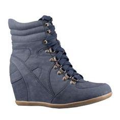 premium selection 8f1b1 e2b05 Nicky  zapato deportivo azul con cuña oculta en nobuck. ¡¡Preciosos!