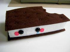 Ice Cream Sammy  Chomped by SteffBomb on Etsy, $75.00