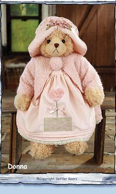 Settler Bears - Leading The World in Dressed Bears Donna Teddy Bear Hug, Old Teddy Bears, Antique Teddy Bears, Bear Hugs, Boyds Bears, Country Bears, Teddy Bear Clothes, Love Bear, Bear Doll