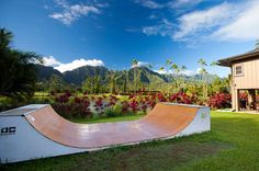 One of our favorites, a beautifully installed half pipe at a customers home in Hawaii.