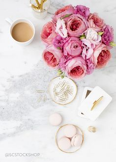 Styled Stock Photography_Shay Cochrane_Pink on Marble_Desktop_blog16