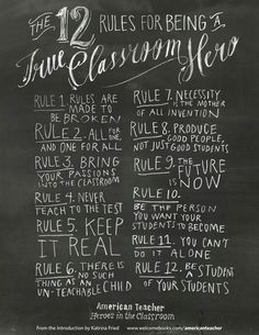 The 12 Rules For Being A True Classroom Hero.  heroes.compasslearning.com