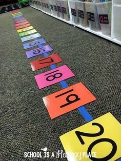 How to Teach Your Child to Read - Free Number Line Activities Your Students Will Love More Give Your Child a Head Start, and.Pave the Way for a Bright, Successful Future. Teaching Numbers, Numbers Kindergarten, Kindergarten Math Activities, Numbers Preschool, Math Numbers, Preschool Math, Math Classroom, Math Resources, Math Games