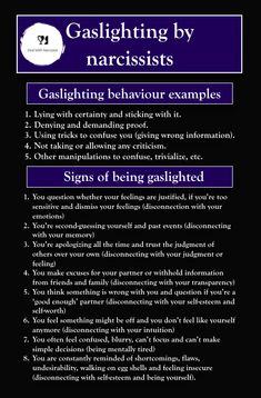 What is gaslighting by a narcissist? About signs, effects and recognizing gaslighting - All about narcissistic abuse by parents, family and in relationships Narcissistic People, Narcissistic Behavior, Narcissistic Abuse Recovery, Narcissistic Personality Disorder, Narcissistic Sociopath, Empathy Quotes, Abuse Quotes, Toxic Relationships, Healthy Relationships