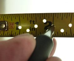 This is an easy modification to any steel tape measure. The length of the tape and degree of precision you want will determine how much time is spent...