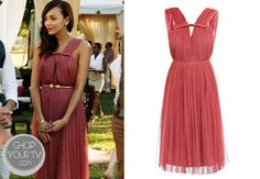 Ashley Davenport (Ashley Madekwe) wore this raspberry-pink pleated silk tulle dress in an episode of Revenge. Preppy Style, Her Style, Preppy Fashion, Bridesmaid Dresses, Prom Dresses, Formal Dresses, Bridesmaids, Tulle Dress, Pink Dress