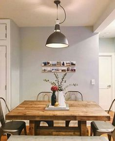 Popular Wall Paint Colours for Your Indian Home (Pick These Blindly! Best Gray Paint Color, Interior Wall Colors, Dining Room Design, Beautiful Dining Rooms, Indian Home, Grey Painted Walls, Beautiful Dining Room Decor, Light Blue Walls, Modern Dining Room