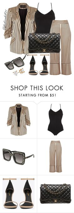 """Untitled #1398"" by fashionkill21 ❤ liked on Polyvore featuring River Island, Calvin Klein Underwear, Gucci, Yves Saint Laurent, Chanel and Allurez"