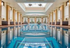My indoor pool would have mermaids and other ocean creatures painted on the bottom and sides of the pool.
