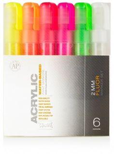 Montana Acrylic Marker Neon 6 Set 2Mm