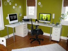 home-office-cute-desk-layout-ideas: Amazing Home Office Layout Ideas
