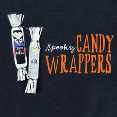 Free printable candy wrappers for your Halloween treats!