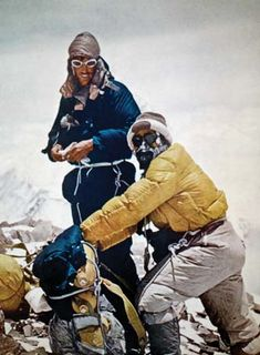 Canvas Print (other products available) - SIR EDMUND HILLARY New Zealand mountaineer and explorer. Sir Edmund Hillary and Tenzing Norgay near the summit of Mount Everest, 28 May - Image supplied by Granger Art on Demand - Canvas Print made in Australia A4 Poster, Poster Prints, Framed Prints, Fine Art Prints, Canvas Prints, Monte Everest, Photo Vintage, Exploration, Winter Scenery