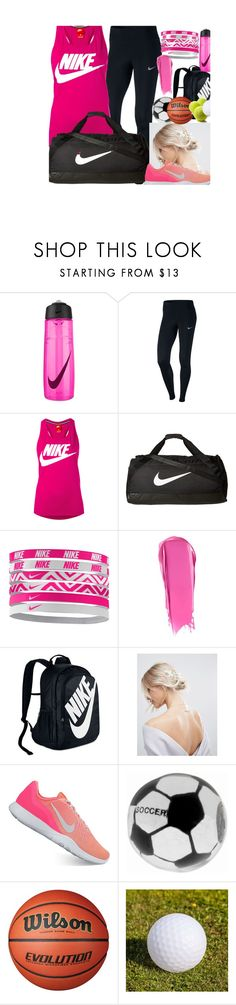 """""""Nike"""" by dcamp1211 ❤ liked on Polyvore featuring NIKE, Liberty, ASOS, Belk Silverworks and Smart & Green"""