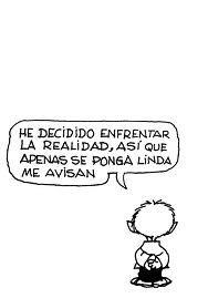 Pobre Felipe. Una viñeta más allá de la decepción, podría estar Mafalda con una nueva visión de la realidad.