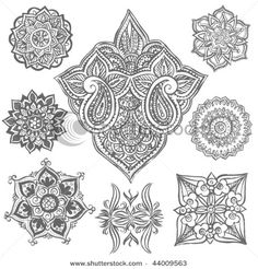 Tattoo Ideas -- I like the big paisley one, very unique