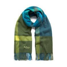 Shop the Large Check Scarf in Porcelain Blue Lambswool at Mulberry.com. Throw this beautifully soft Lambswool scarf on when the days get chillier or the nights draw in. The pattern is inspired by traditional Mulberry check and complements the colours and textures of the new Ready to Wear collection.