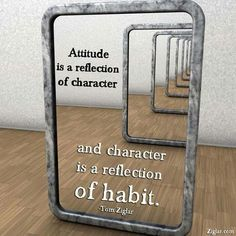 """Attitude is a Reflection of Character"""