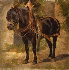 """Oscar Merte (1873 - 1938).  """"Work horse collar harness"""""""