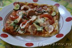 пицца с сосиской рецепт с фото Vegetable Pizza, Baked Potato, Potatoes, Baking, Vegetables, Ethnic Recipes, Food, Patisserie, Potato