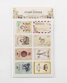 Min $10 free shipping Hrebaceous vintage labels paper stamp 8 style 2 sheets-inStamps from Office  School Supplies on Aliexpress.com $0.69