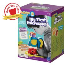 My First Microscope is an easy to use, fully functional microscope designed for little hands!