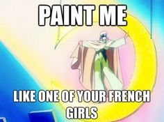 "Great Anime Shareables and Memes for Pinterest, Tumblr, Facebook and Twitter: ""Paint Me"" Sailor Moon Meme http://anime.about.com/od/animeprimer/ig/Great-Anime-Shareables-and-Memes-for-Pinterest-Tumblr-Facebook-and-Twitter/index.htm"
