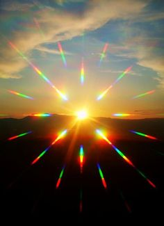 Light, Glare: The light glares on the lens of the camera and produces a beautiful rainbow effect.