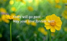 Years will go past<br/> May your love forever last!
