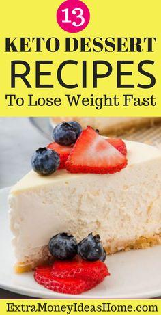 13 Most Delicious Keto Dessert Recipes. Healthy Low Carb Recipes, Snack Recipes, Dessert Recipes, Keto Snacks, Keto Recipes, Keto Dessert Easy, Keto Friendly Desserts, Cheesecake, Diet Ideas