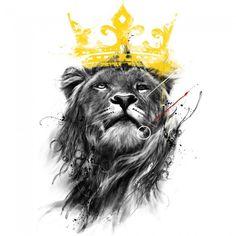 Lion Label Heat Transfer Iron On Patch Applique DIY Fabric Clothing T-Shirt Patches For Apparel Leo Tattoos, Tattos, Lion And Lamb, Lion Tattoo Design, Lion Painting, Lion Wallpaper, Le Roi Lion, Jesus Art, Lion Of Judah