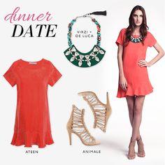 Compre moda com conteúdo, www.oqvestir.com.br #Fashion #Ateen #Animale #VirzideLuca #Pretty #Summer #Dress #Dinner #Looks