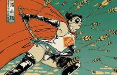 Japanese female super-heroes by Yuko Shimizu