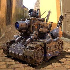 Game Bit, Military Tank, Low Poly 3d Models, 3d Assets, Sci Fi Fantasy, 3d Animation, Dieselpunk, Anime Comics, Robots