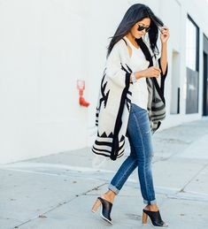 Poncho outfit inspiration