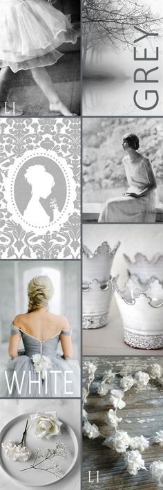 Greys and White, will always be classically elegant.