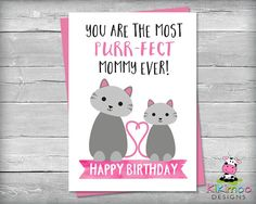 This affordable greeting card is the perfect gift from kids to Mom for her Birthday. This will surely melt Mom's heart.  The greeting card is a