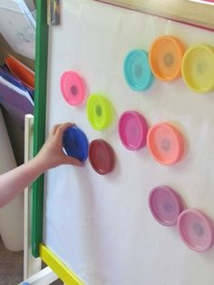 Magnetic Play Dough Lids : Teach Preschool