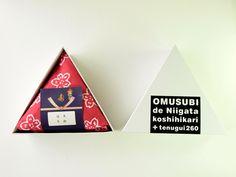 新潟県産コシヒカリと手ぬぐい 新潟を丸ごとつめたかわいいデザインお結び(おむすび) 3合で1785円 お米持ち込みの場合は100円OFF