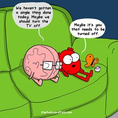Heart and Brain discuss whether or not to be productive or lazy on the weekend