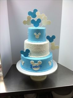 Baby Mickey birthday cake #luckytreats #mickey